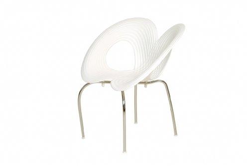 Ripple Chair / Ron Arad / MOROSO / Besucherstuhl / weiß und schwarz / 10 Stück auf Lager / DesignKlassiker von Klingenberg