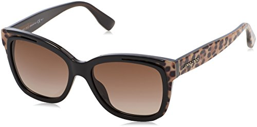 Jimmy Choo Damen BEBI/S J6 PUE 53 Sonnenbrille, Schwarz (Animalier Bk/Brown Sf)