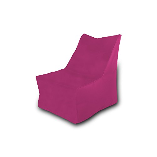 Pufmania Bean Bag Beanbag Chair Polyester Waterproof 75 x 75 cm (Fuchsia)