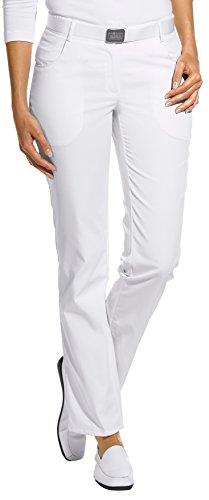 clinicfashion 10612025 Hose Damen weiß, Normallänge, Mischgewebe, Größe 38 (Damen Hosen Weiße)
