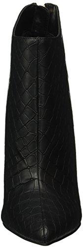 Buffalo B334e-41a E0094a Croc Pu, Bottes Classiques femme Noir - Noir (01)