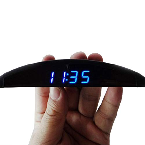 Semine Ultradünne Borduhr für elektronische Uhr Voltmeter Spannungsmessgerät Thermometer