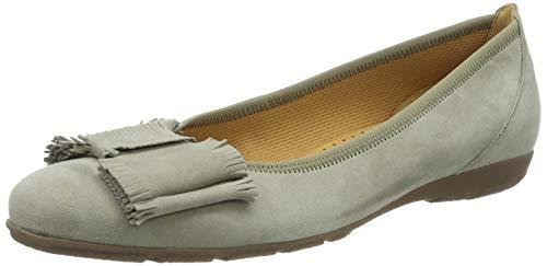 Gabor Shoes Damen Casual Geschlossene Ballerinas, Grün (Schilf 19), 41 EU -