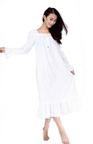 European Style manches longues Vintage Design blanc romantique classique, Princesse chemise de nuit chemise de nuit SSL04