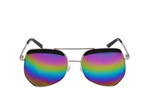 LQABW Unisex Sunglasses Color Film Fashion Eye Lens UV400 Protection Steampunk Hippie Sunglasses