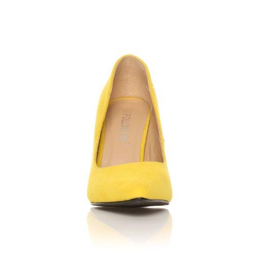 DARCY Pumps Kunst Wildleder Gelb Spitz High Heels Stilettos Gelb Wildleder