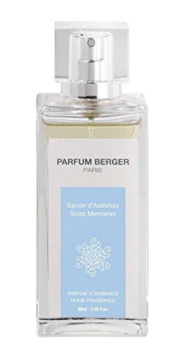 Parfum Berger 6068 Vaporisateur de Parfum Savon d'Autrefois Transparent 90 ml