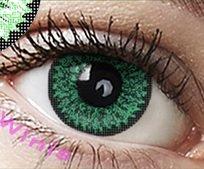 """Farbige Kontaktlinsen Jahreslinsen grün hellgrün """" Green"""" dolly ohne Stärke COSPLAY"""
