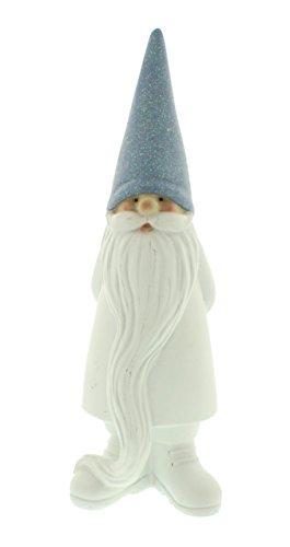Festive Productions Polyresin Santa mit Hut, weiß/blau