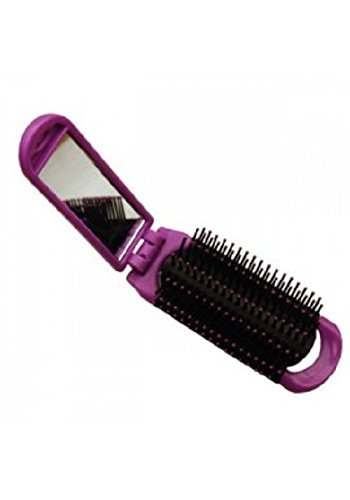 Vega Folding Hair Brush with Mirror, Color May Vary