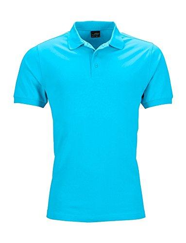 Elastisches Herren Polo Shirt Poloshirt Hemd Stretchable Turquoise