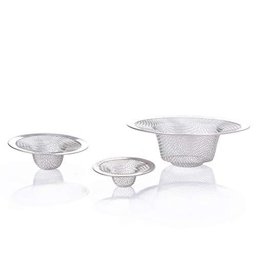 3pcs Edelstahl Sink Drainage Filter für Küche Bad Sewer Sink - Silber