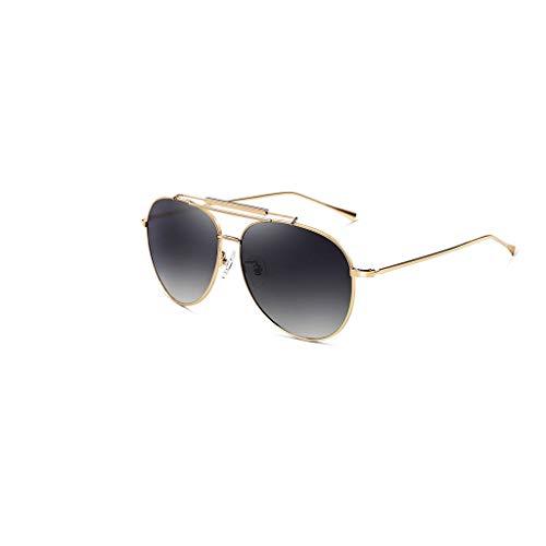 RJYJ Mode-Klassiker Polarisierte Sonnenbrille, TAC Objektiv Anti-UVA/UVB (Color : Gold)