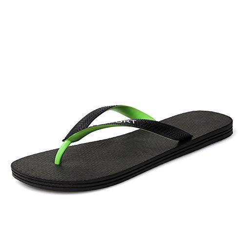 Casual Suede Shoe Hausschuhe für Männer Flip-Flops Casual Slip On PU-Leder Mode Pool Rutschen Leichte, Flexible Schuhe Herren Sneaker (Color : Grün, Größe : 42 EU) (Haus-boot-hausschuhe)