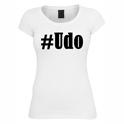 T-Shirt #Udo Hashtag Raute für Damen Herren und Kinder ... in der Farbe Weiß Weiß