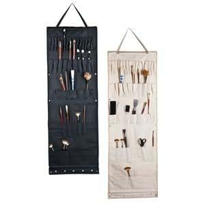 Etui d'atelier pour materiel de peinture à suspendre - 48 pochettes - coton -50x148cm
