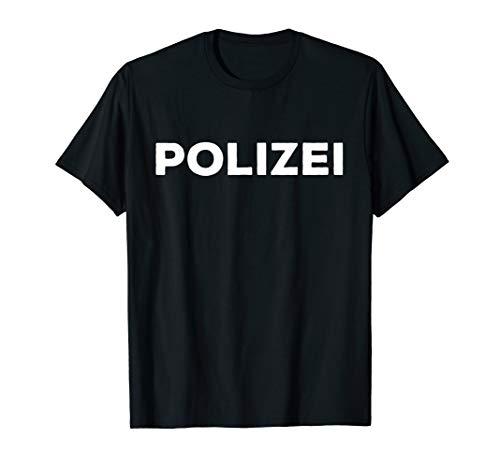 Polizei Shirt Kostüm Verkleidung für Fasching Karneval
