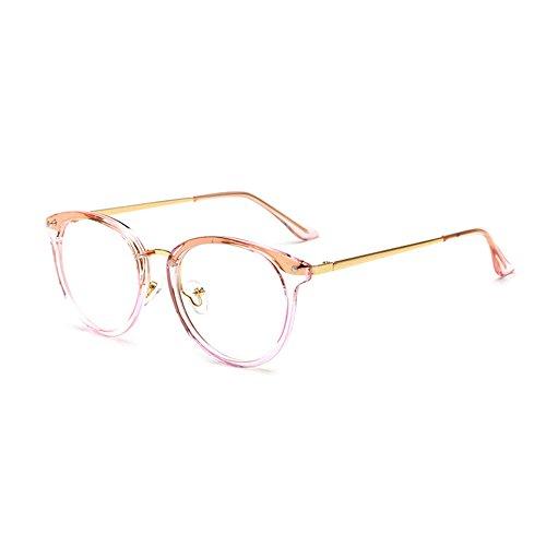 Forepin Brille für Damen Herren reg; Nerdbrille Retro Unisex Klare Linse Gläser Dekobrille...