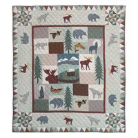 Patch Magic Twin Mountain Whispers Quilt, 65-Inch by 85-Inch by Patch Magic Mountain Whispers Quilt