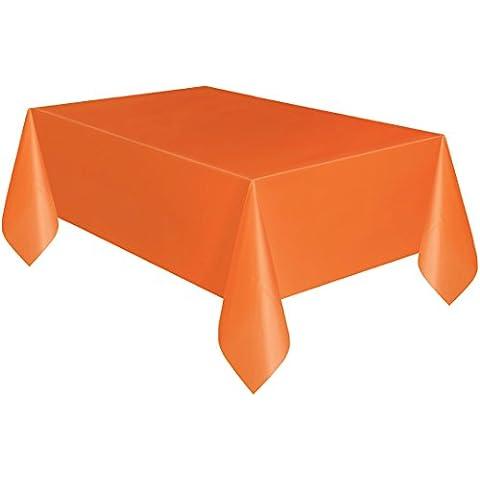 Arancione in plastica per tavolo panno pulire partito Tovaglia rettangolare Covers Panni forma: rettangolare Tovaglia