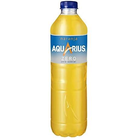 Aquarius Zero Naranja Bebida para deportistas refresco sin gas 1 5 l Botella de pl stico