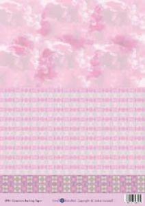 Small Beauties Hintergrundpapier DP19, Bogengröße DIN A4 Geranien rosé-weiß -