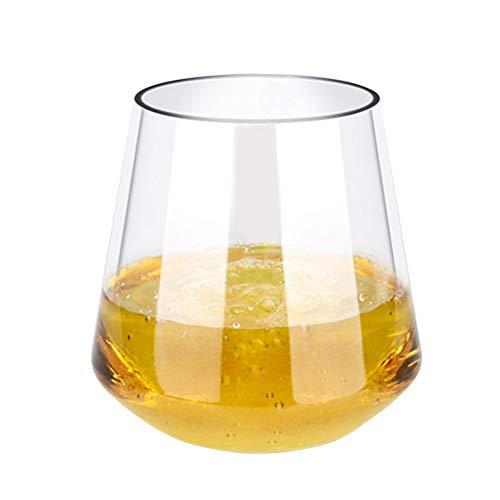 BESTONZON Unzerbrechlicher Plastikrotweinglas-transparenter Whisky-Fruchtsaft-Bier-Cup-bruchfeste Schalen