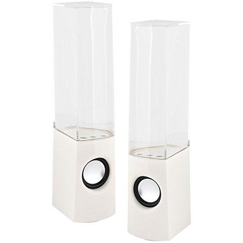 LED Dancing Water Jet Lautsprecher USB HiFi-Stereo-System Music Fountain Light Base eingebaute Plug & Play -