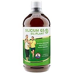 SILICIUM G5 Siliplant - Silicium organique, liquide buvable, Complément Alimentaire Surconcentré Articulaire, Articulations, Os Cheveux et Peau, production collagène