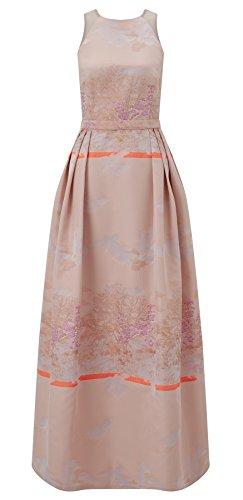 Bevan Pink Jacquard Maxi Dress