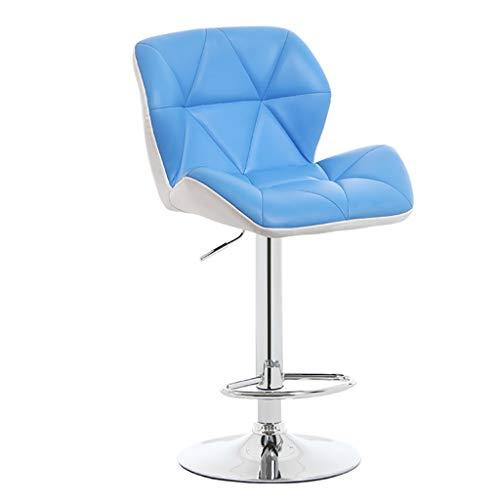 MXXYZ Klappsessel klappstühle Hoher Hocker Stühle Bürostuhl Computer Schreibtisch Arbeitsstuhl Weiche Polsterung Stuhl Höhe Home Office Bar (Color : Blue) -