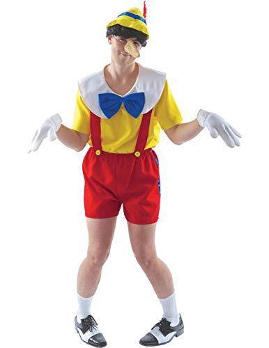 Erwachsene Pinocchio Kostüm Marionette Buch Woche Outfit Verkleidung Extra ()