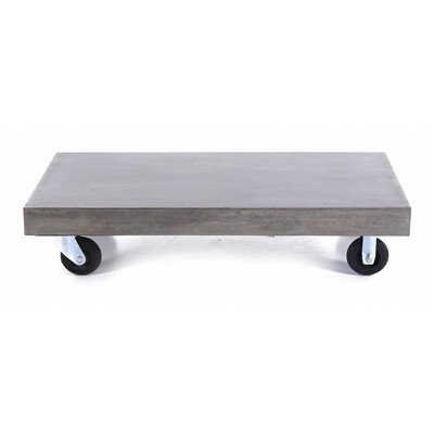 Inwood Table Basse Beton A Roulettes 120 X 60 Cm Hermitage