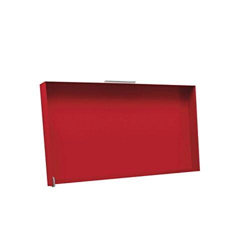Simogas - cv-rainbow red - Couvercle acier rouge pour plancha 70cm