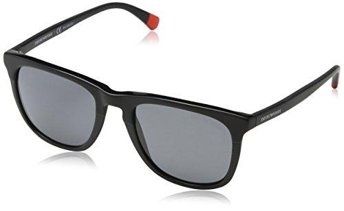 Emporio Armani Herren 0ea4105 Sonnenbrille, Schwarz (Matte On Black), 53