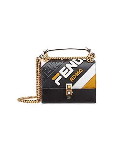 Fendi Damen 8M0381a5plf15lc Schwarz Leder Handtaschen - Fendi Schwarz Handtaschen