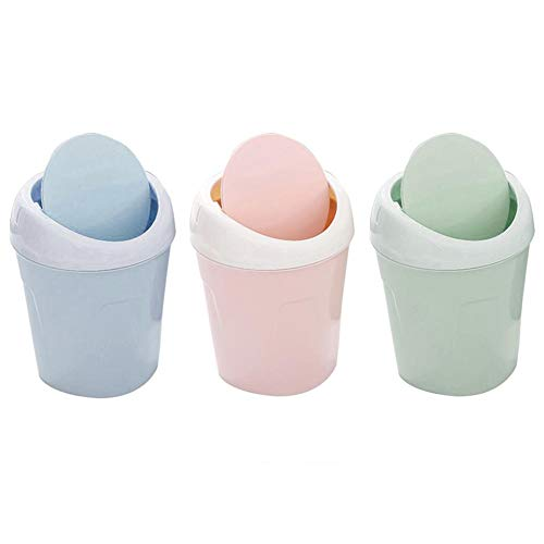 Sue Supply Mini-Abfalleimer mit Deckel, für Wohnzimmer, einfarbig, für Zuhause, Tisch, Couchtisch grün - Grüner-kaffee-tisch