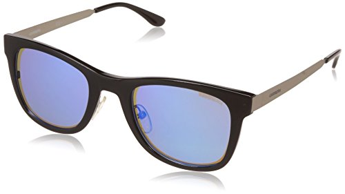 Carrera Rectangular Sunglasses (Black Silver) (Carrera-5023/S-FZC4P)