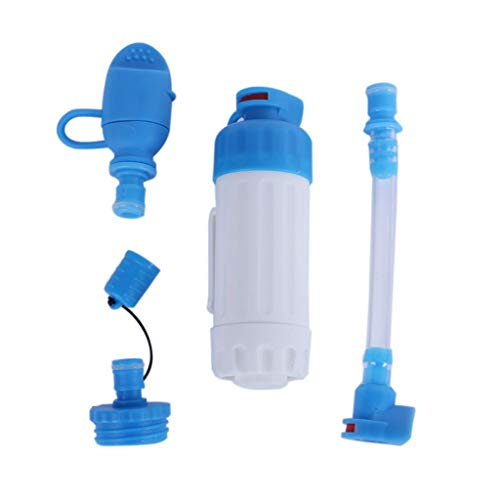 WPCBAA Outdoor Wandern Camping Ausrüstung Wasserfilter Gerade Trinkwasser Filtration Kapazität Notüberlebens-Tool Survival Kit