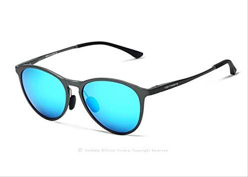 MJDL Vintage Retro Markendesigner Original Box Sonnenbrille Herren/Damen Herren Sonnenbrille Gafas Blau