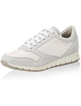 Geox Damenschuhe D7206A D CONTACT Sportlicher Damen Sneaker, Schnürhalbschuh, Freizeitschuh, atmungsaktiv