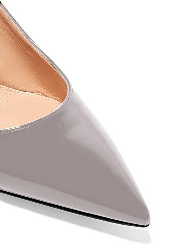 EKS Scarpe col tacco punta chiusa Donna Grau