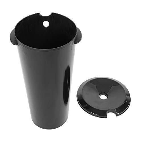 10 Liter Shampoo-Eimer, Schwarzer Eimer aus hochwertigem Kunststoff, 15,5 x 46 x 25 cm