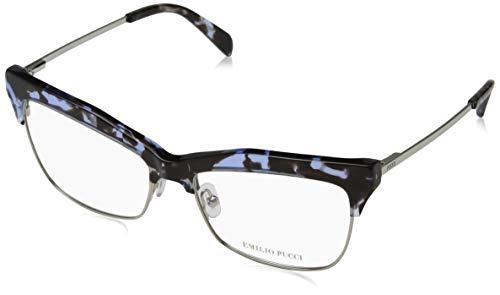 Emilio pucci ep5081, occhiali da sole unisex-adulto, marrone (avana colorata), 55.0