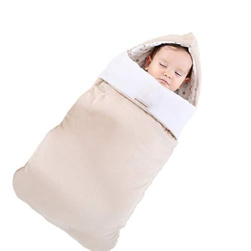 Trapunta per neonato in cotone, trapunta neonato addensare sacco a pelo doppio uso primavera, estate, autunno e inverno trapunta,40 * 80