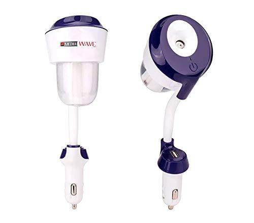 CARII Umidificatore Purificatore aromaterapia da auto con porta usb di ricarica Caricabatterie USB, purificatore d'Aria, diffusore di aromi e Oli per aromaterapia, nebulizzatore, nebulizzato