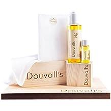 Juego de regalo de Duvall, limpiador de aceite de argán 1 x All-in-One 150 ml, 1 x 50 ml Bio Feuchtigkeitsplfege, 1 x muselina Tela, 1er Pack (1 x 1 pieza)