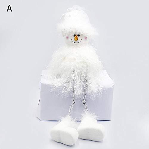 duhe189014 Schneemann Spielzeug Puppen Stehen Weihnachtsmann Weihnachten Spielzeug Plüsch Sammeln Figuren Home Party Indoor Tisch Desktop Dekoration regular