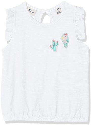 -Mädchen Tshirt with Badges T-Shirt, Weiß (White 2000), 80 ()