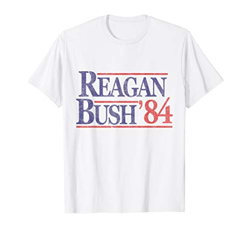 Retro Reagan Bush '84 Republican T-Shirt -